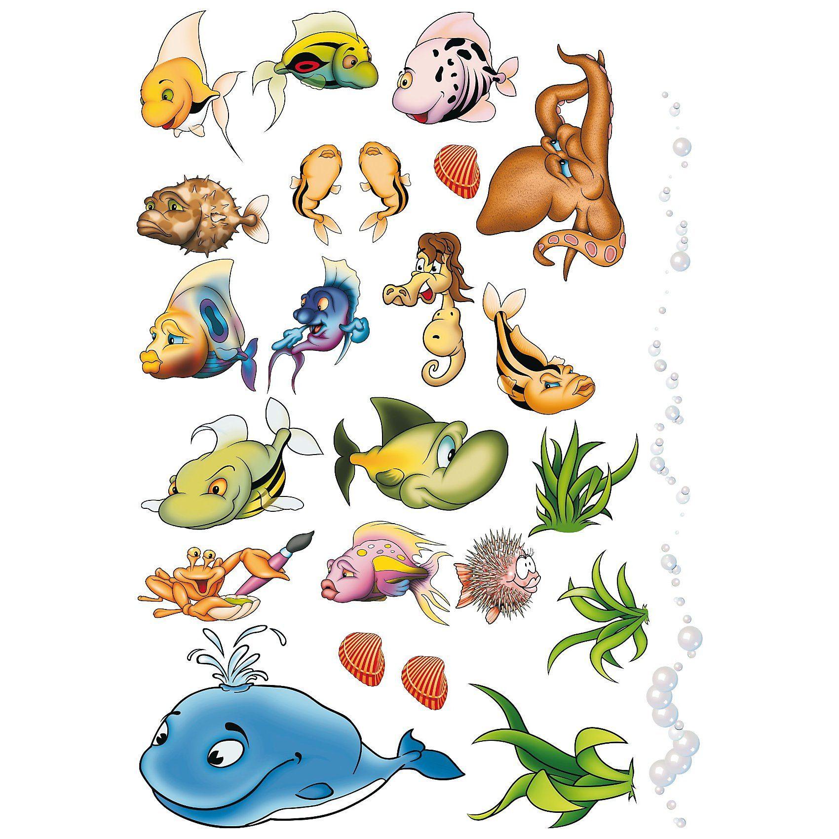 Wandsticker XL Unterwasserwelt, 40-tlg.