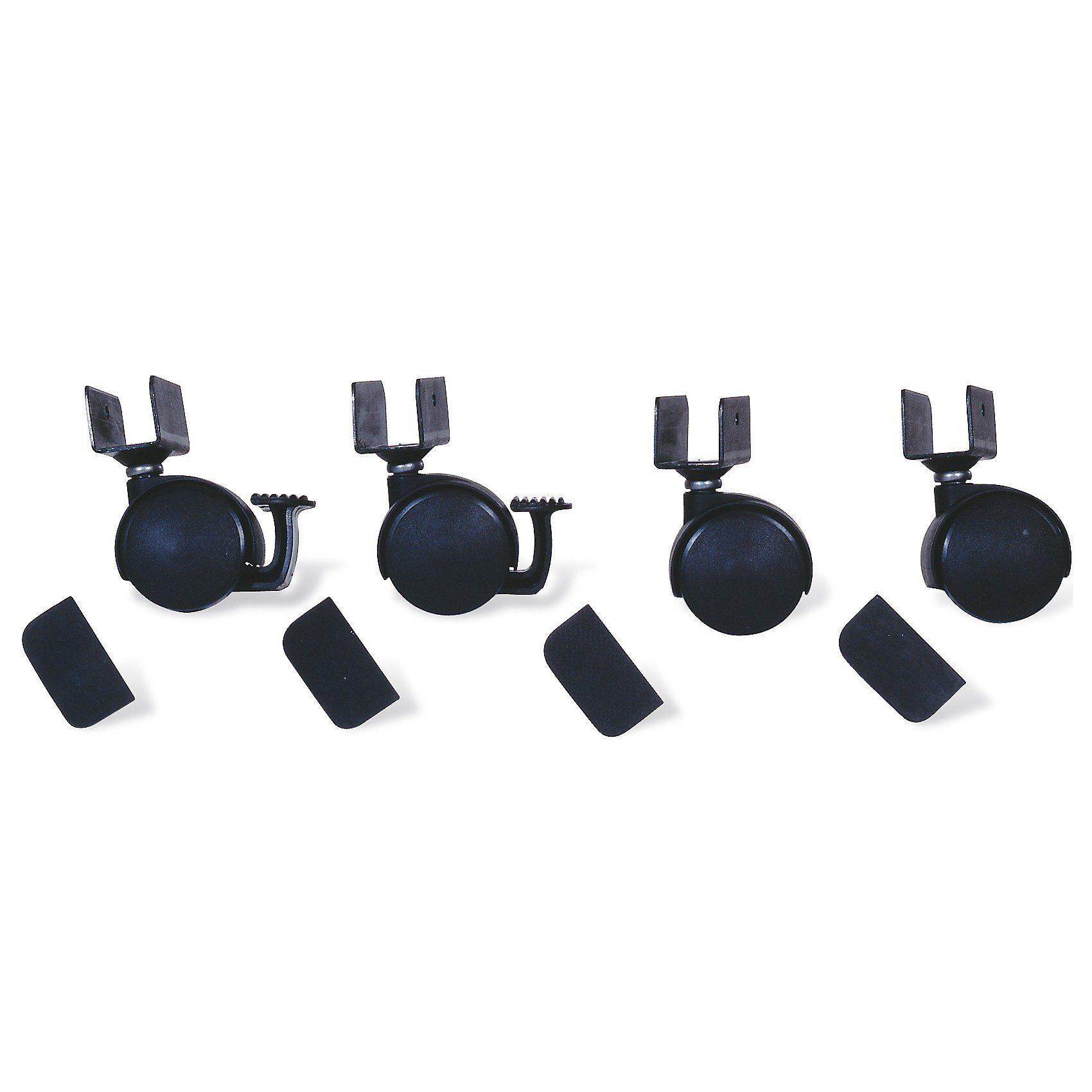 Pinolino® Rollensatz mit U-Aufnahme, 4-tlg., Schwarz