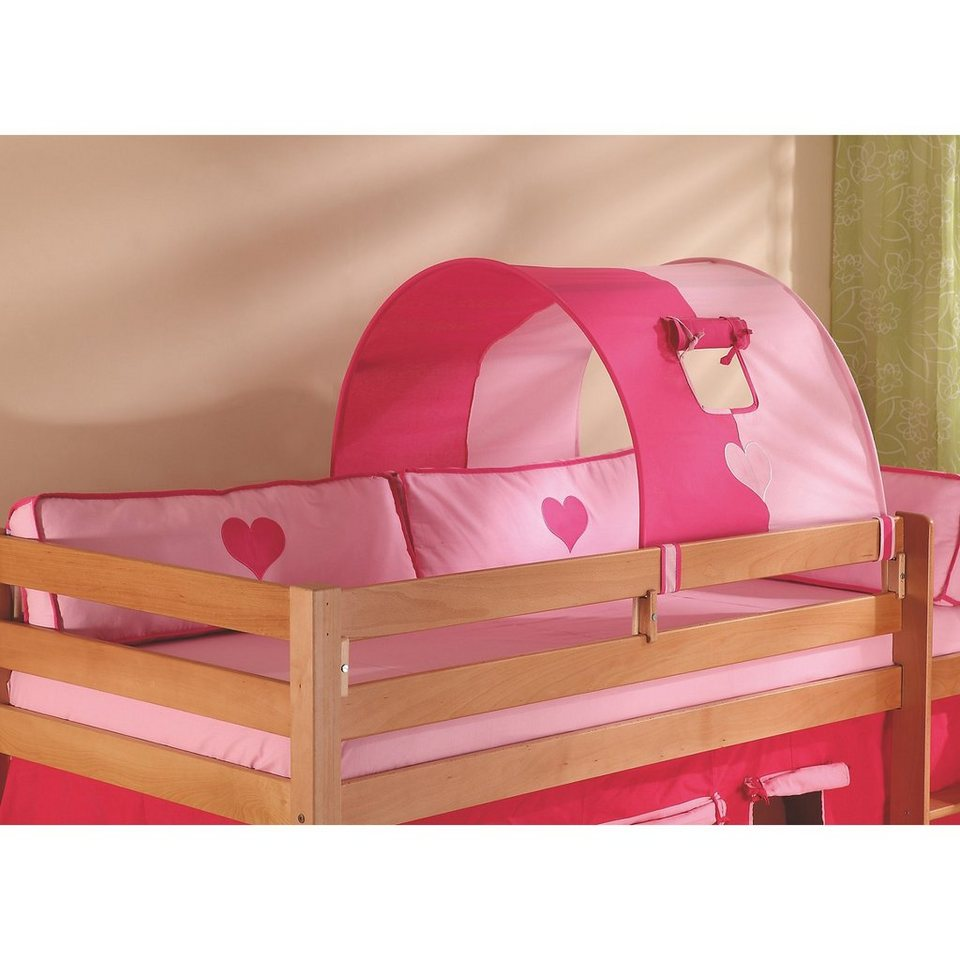 relita tunnel f r hoch und etagenbetten pink rosa herz online kaufen otto. Black Bedroom Furniture Sets. Home Design Ideas