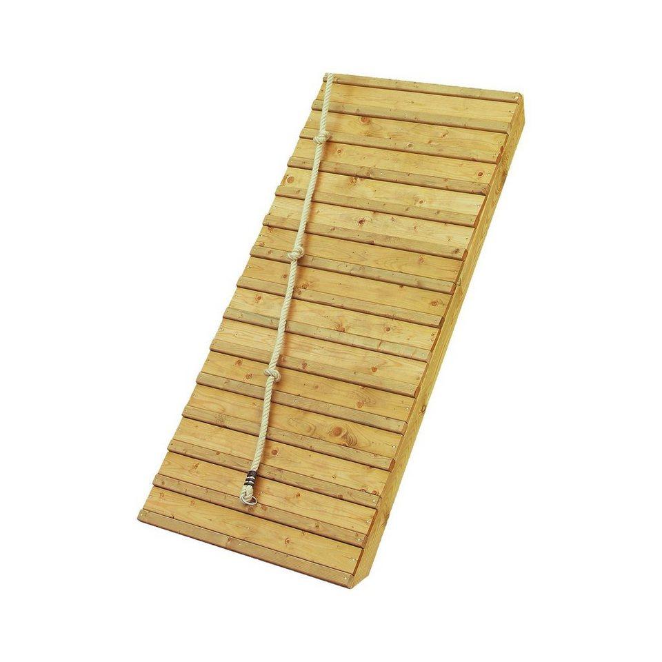 Karibu Holzrampe mit Klettertau