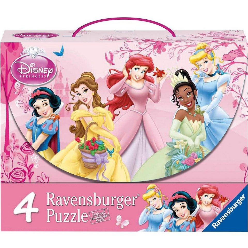 Ravensburger Puzzlekoffer Disney Princess Prinzessinnen im Rosengarten 2x