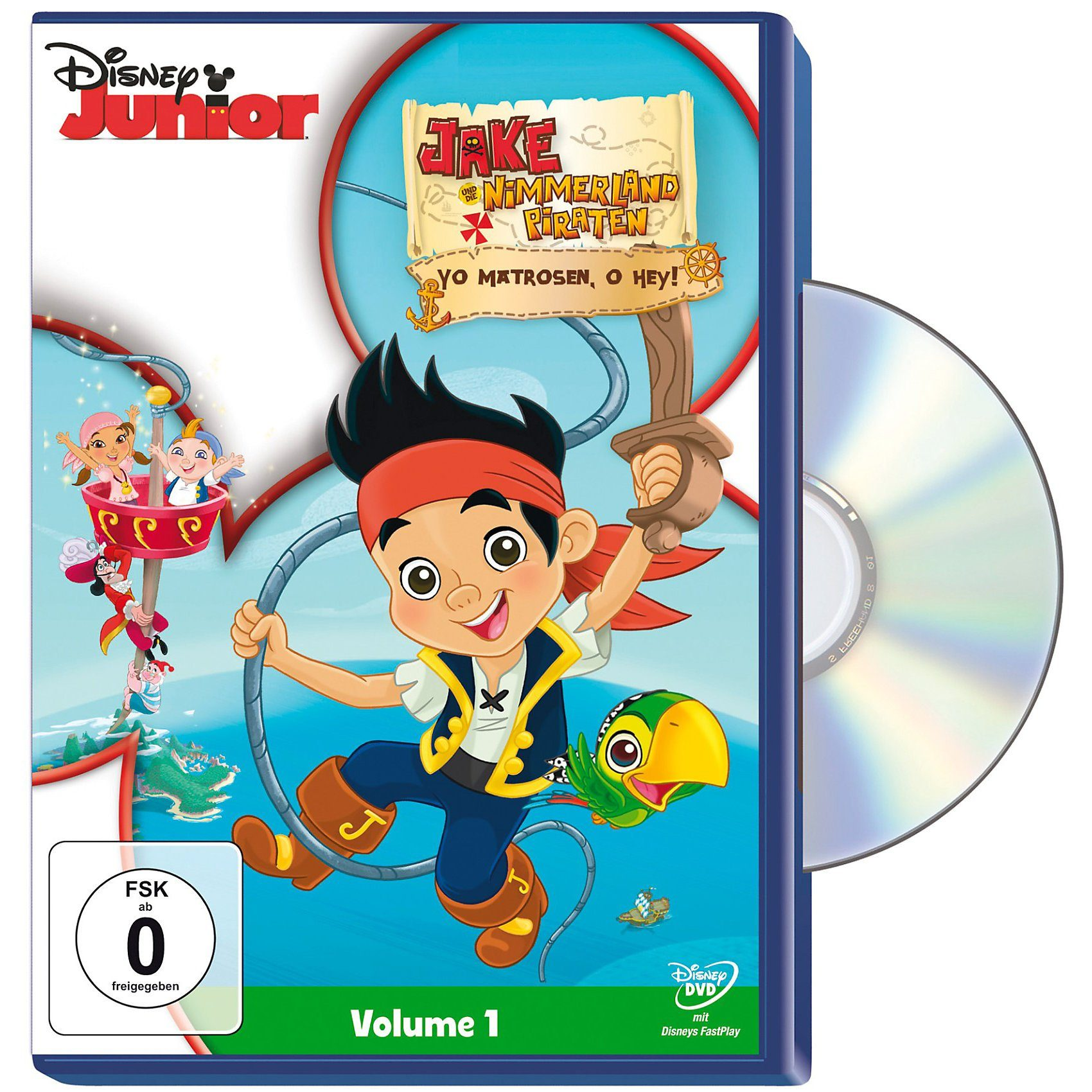 Disney DVD DVD Jake und die Nimmerland Piraten - Yo Matrosen, o hey