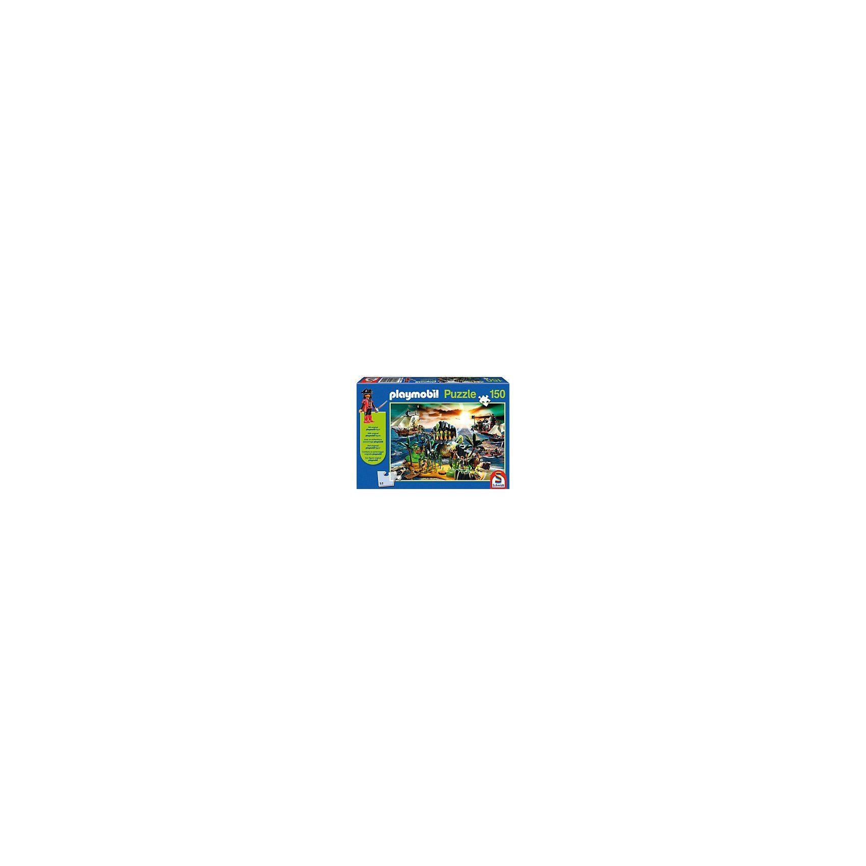 Schmidt Spiele Playmobil, Pirateninsel, 150 Teile