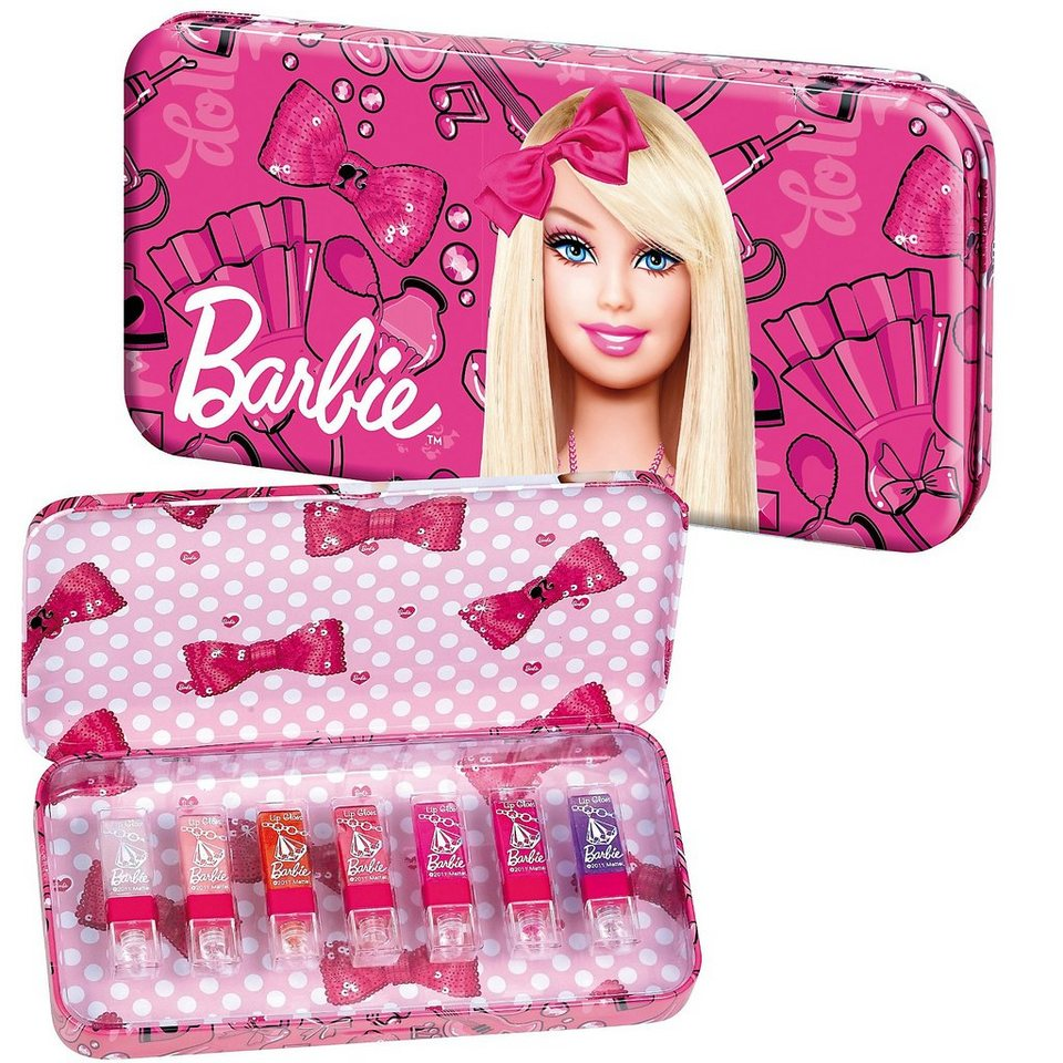 Barbie Stiftebox mit Lipgloss