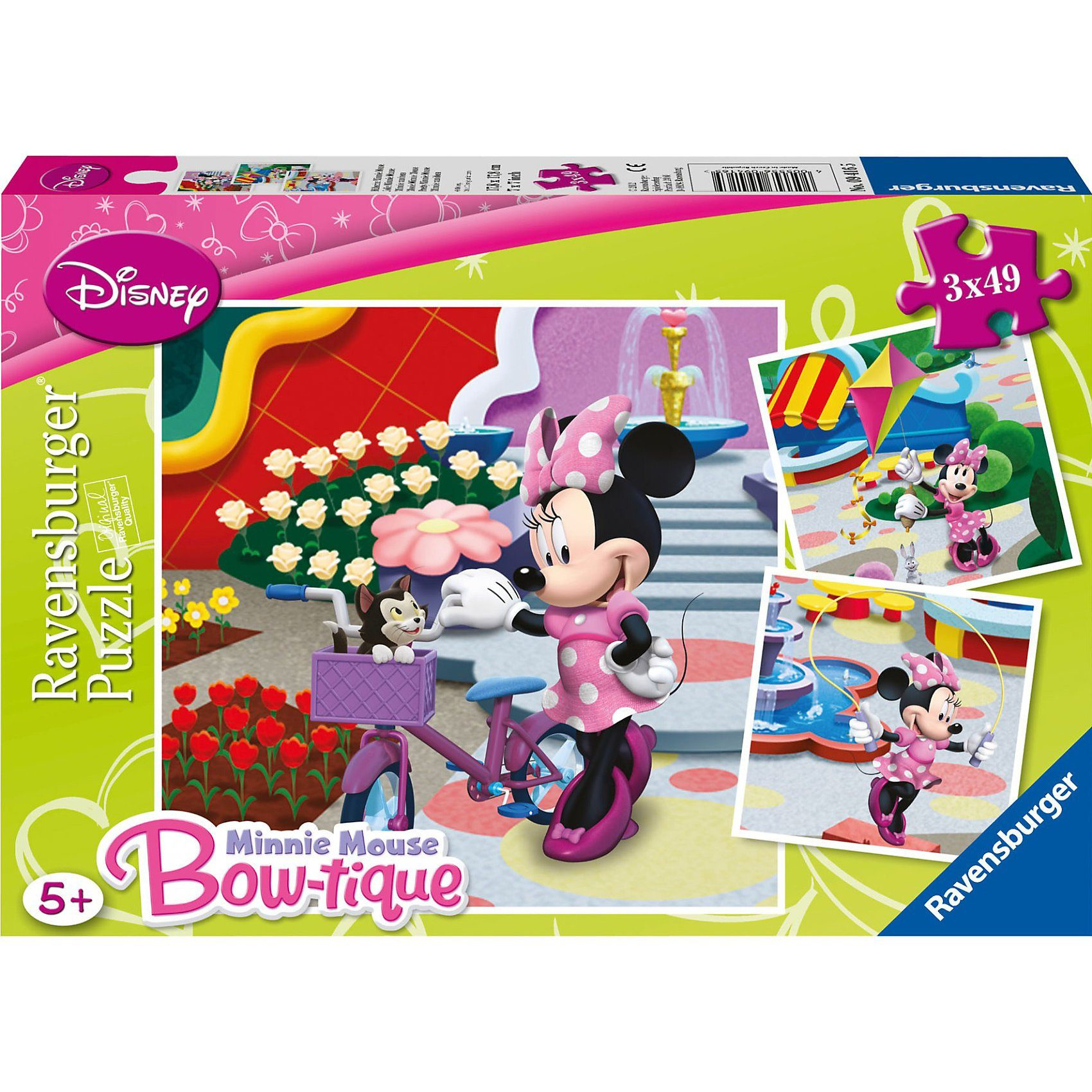 Ravensburger Puzzle Hübsche Minnie Mouse 3x49 Teile