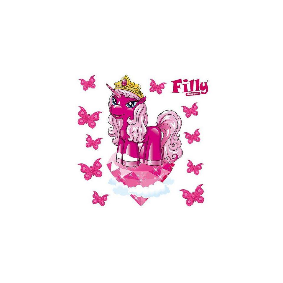 Wandsticker Filly, Beauty Zara, 11-tlg. in pink