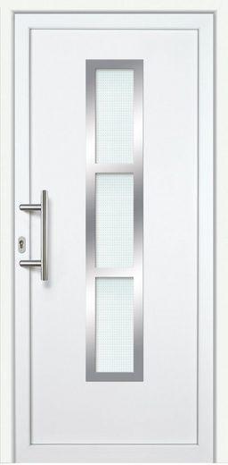 KM MEETH ZAUN GMBH Kunststoff-Haustür »K745P RS«, BxH: 108x208 cm, weiß, rechts