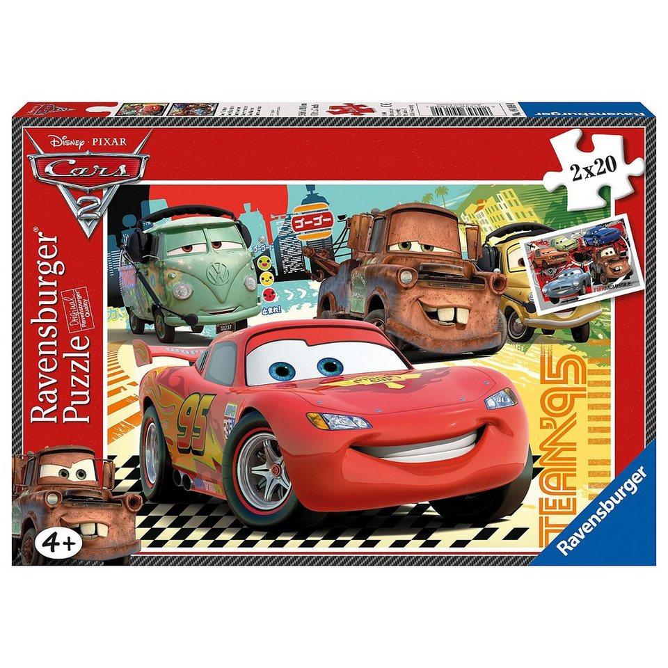 Ravensburger Disney Cars 2: Neue Abenteuer - 2x20 Teile Puzzle