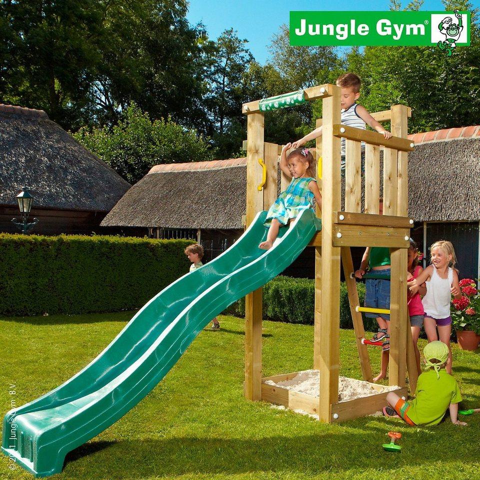 jungle gym spielturm tower rutsche gr n kaufen otto. Black Bedroom Furniture Sets. Home Design Ideas