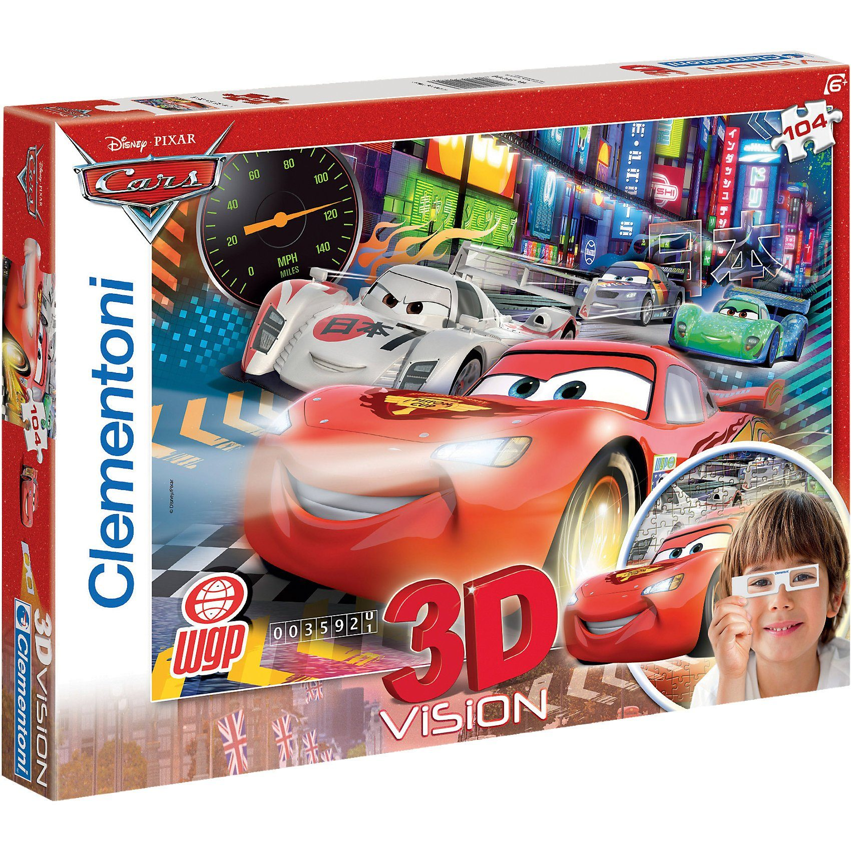 Clementoni Puzzle Magic 3D 104 Teile - Cars 2: The fastest crew
