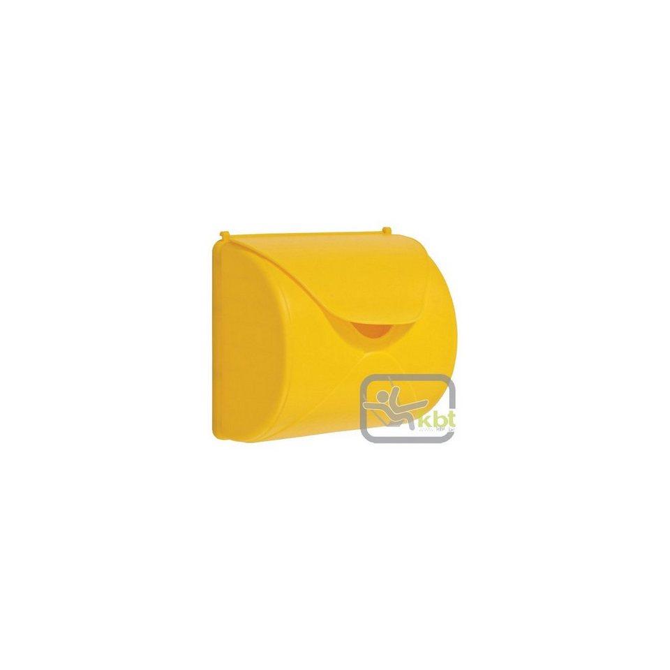 kbt Briefkasten, gelb in gelb