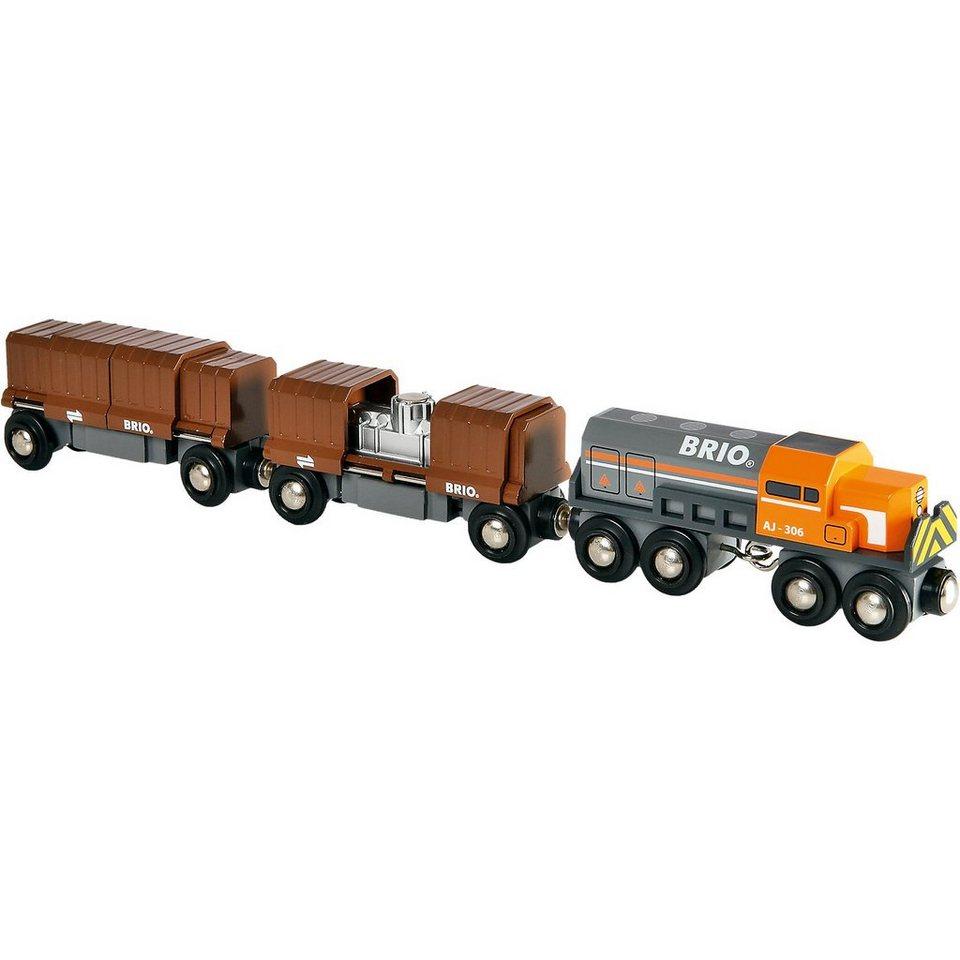 BRIO Diesellok mit Güterwaggons