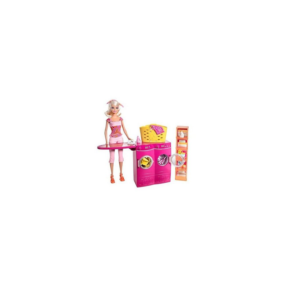 Mattel Barbie Waschküche und Puppe