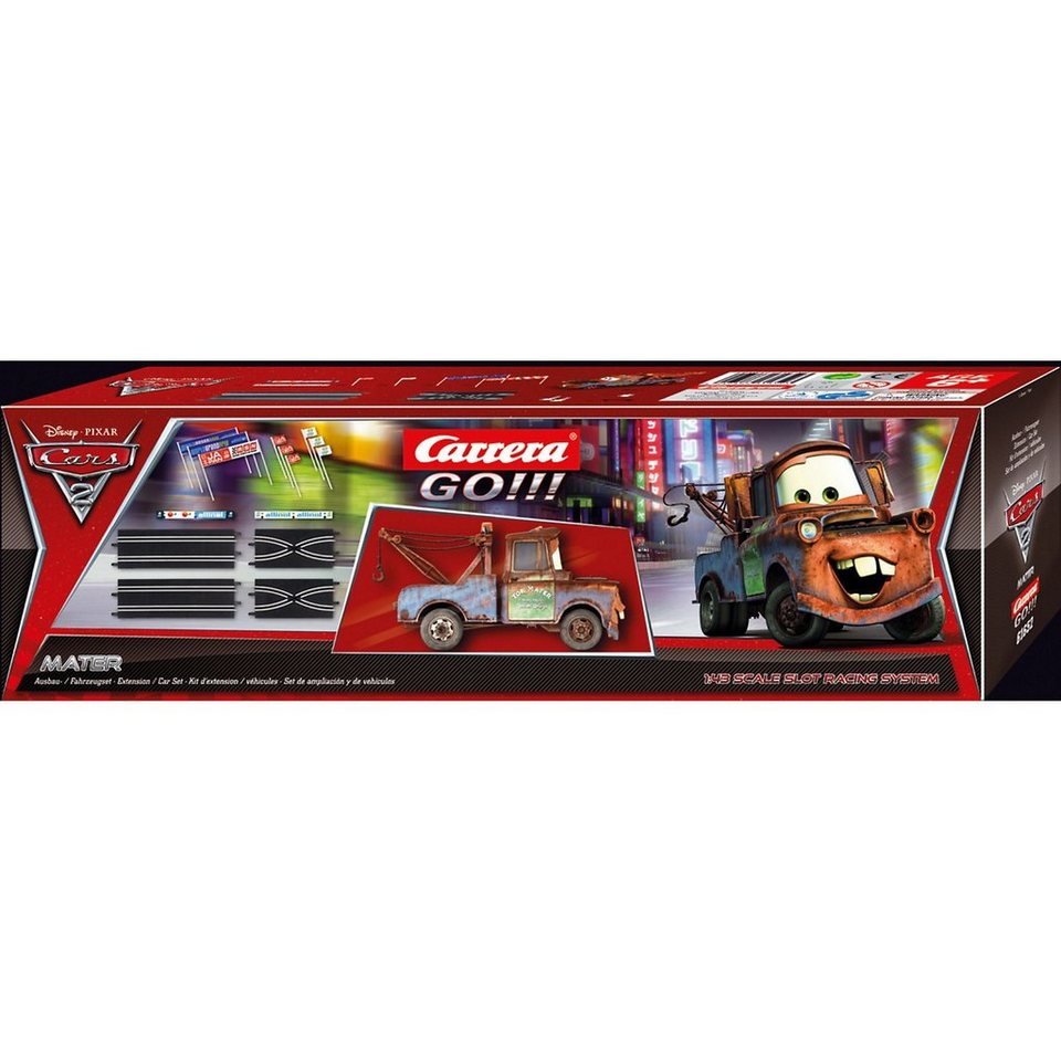 Carrera GO!!! 61652 Disney/Pixar Cars 2 Ausbauset + 1 Fahrzeug Hook