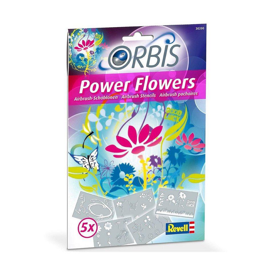 Revell Orbis 30200 Airbrush Schablonen-Set Power Flowers