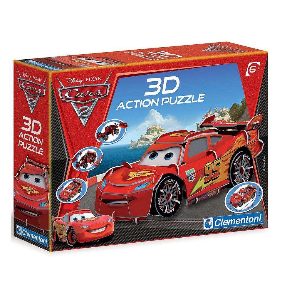 Clementoni Puzzle 3D Action 70 Teile - Disney Cars 2: Lightning McQueen