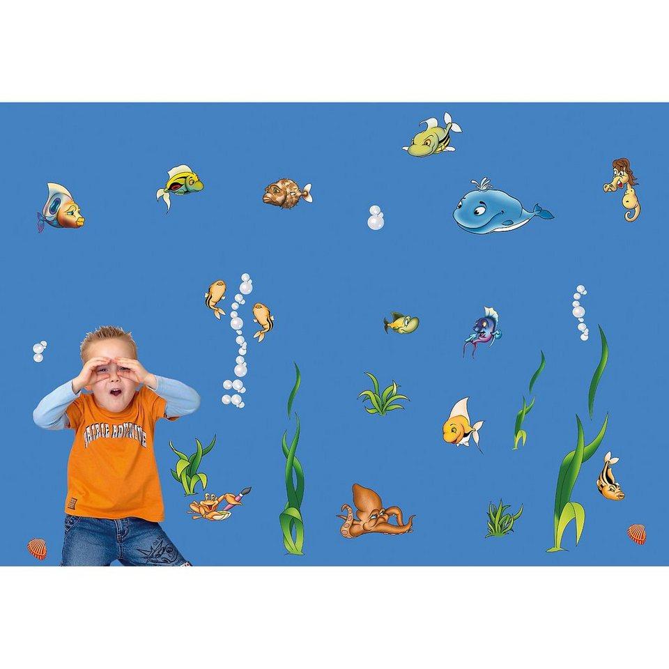 Wandsticker Unterwasserwelt, 40-tlg. in mehrfarbig