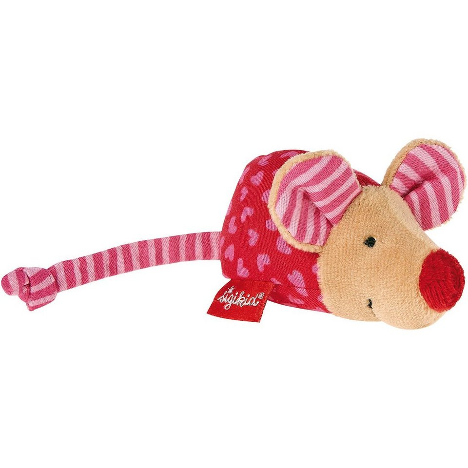 sigikid Maus mit Rassel, pink