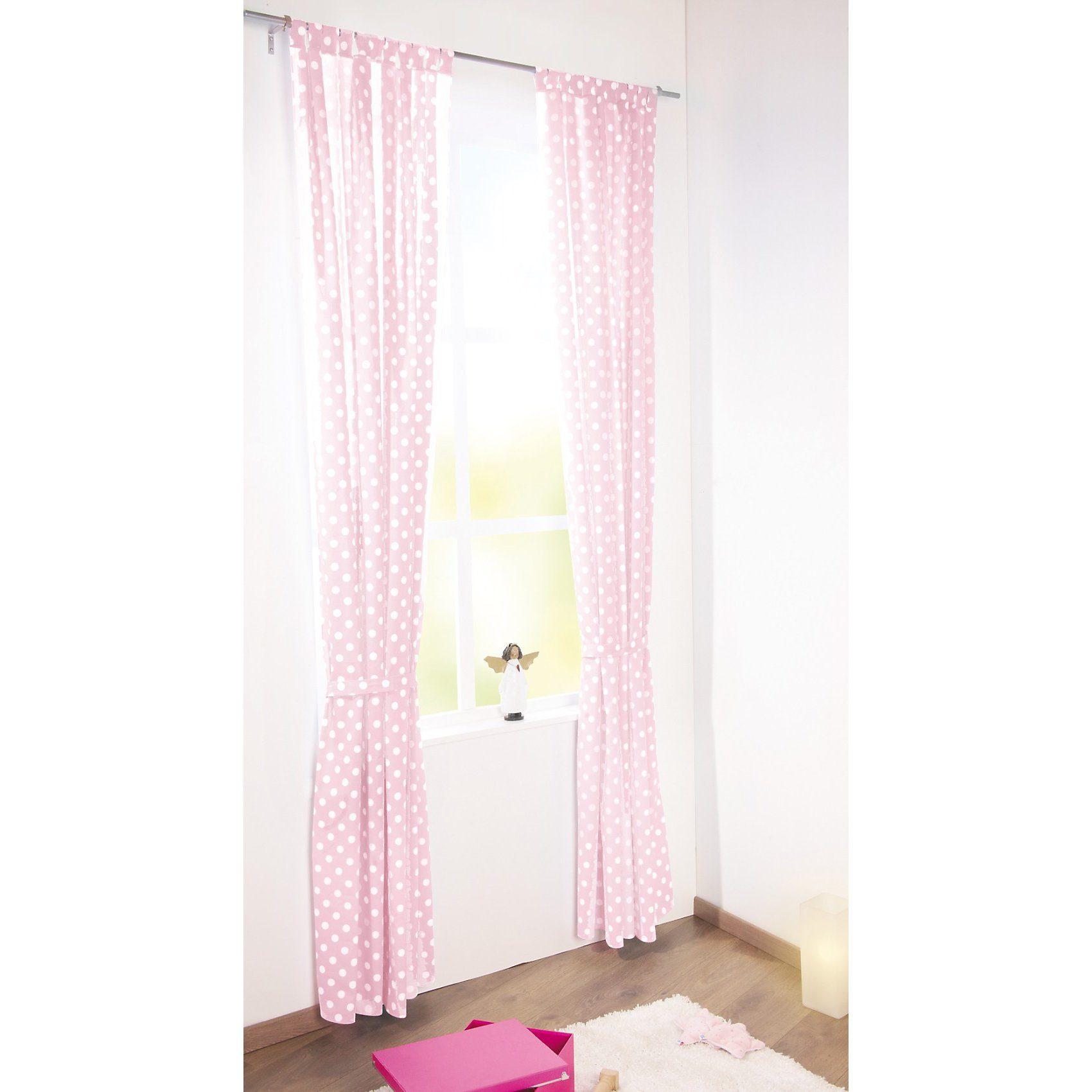 Pinolino Vorhang Punkte, rosa, 140 x 245 cm, (1 Schal)
