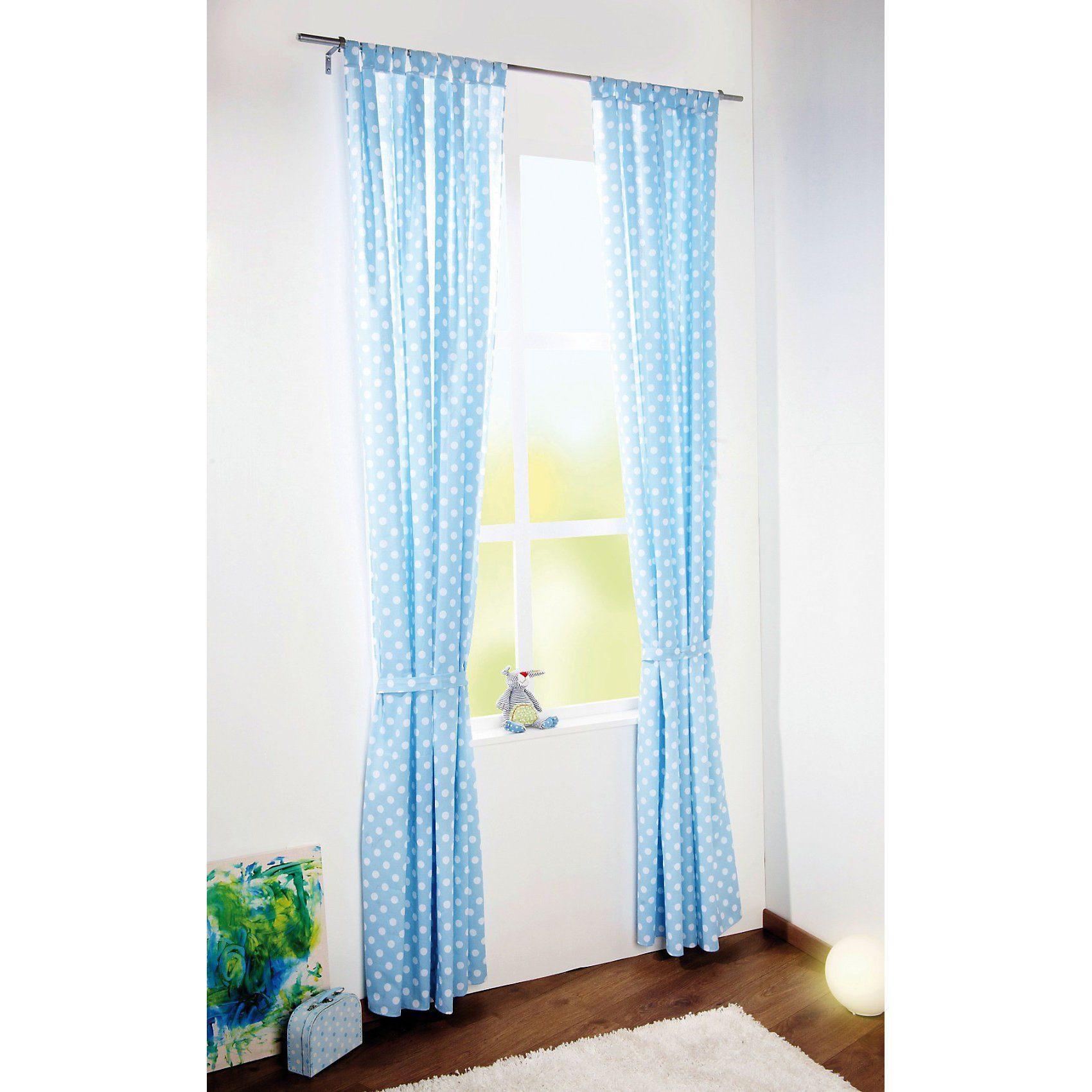 Pinolino Vorhang Punkte, hellblau, 140 x 245 cm, (1 Schal)