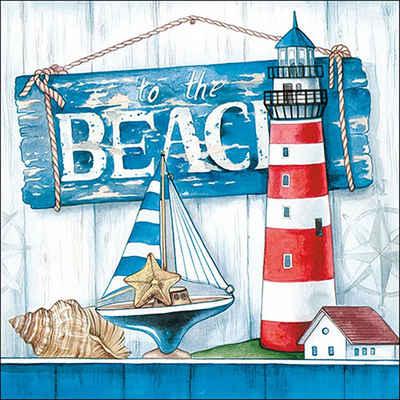Ambiente Papierserviette »Beach«, (5 St), 33 cm x 33 cm