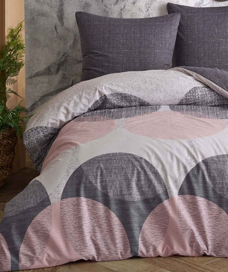 Bettwäsche, Leonado Vicenti, große Kreise und gemusterte Wendeseite