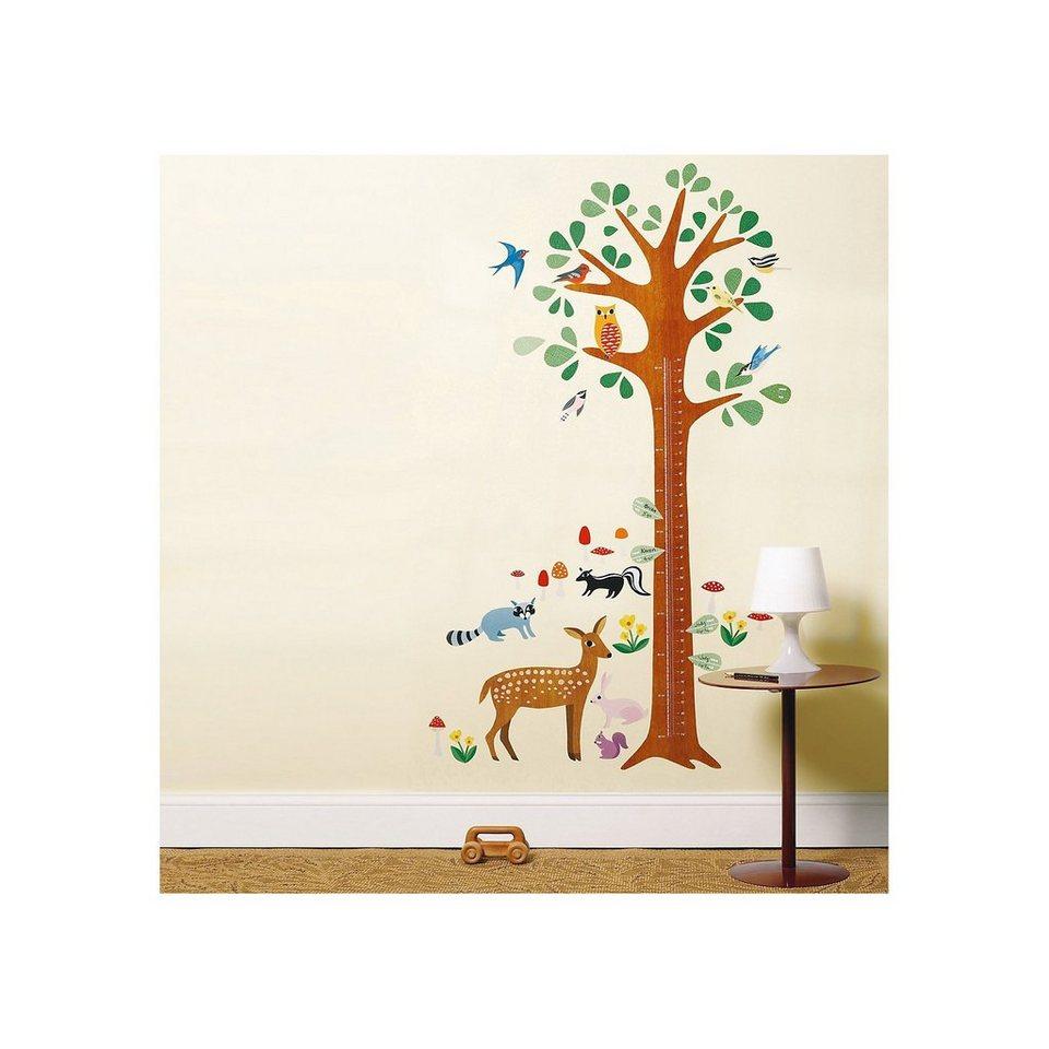 Wandsticker-Messlatte mit niedlichem Wald-Motiv: Praktisch und dekorativ