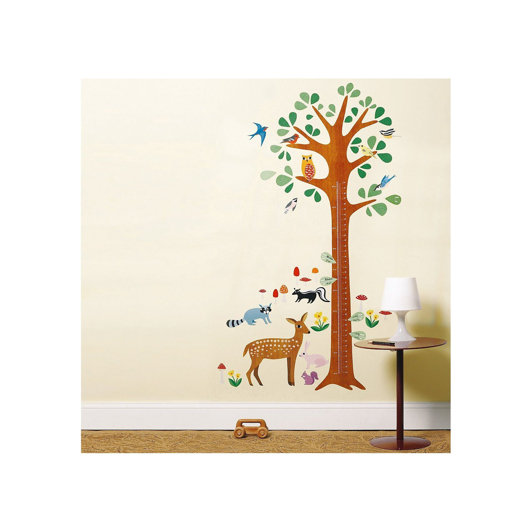 WALLIES Wandsticker Messlatte Wald