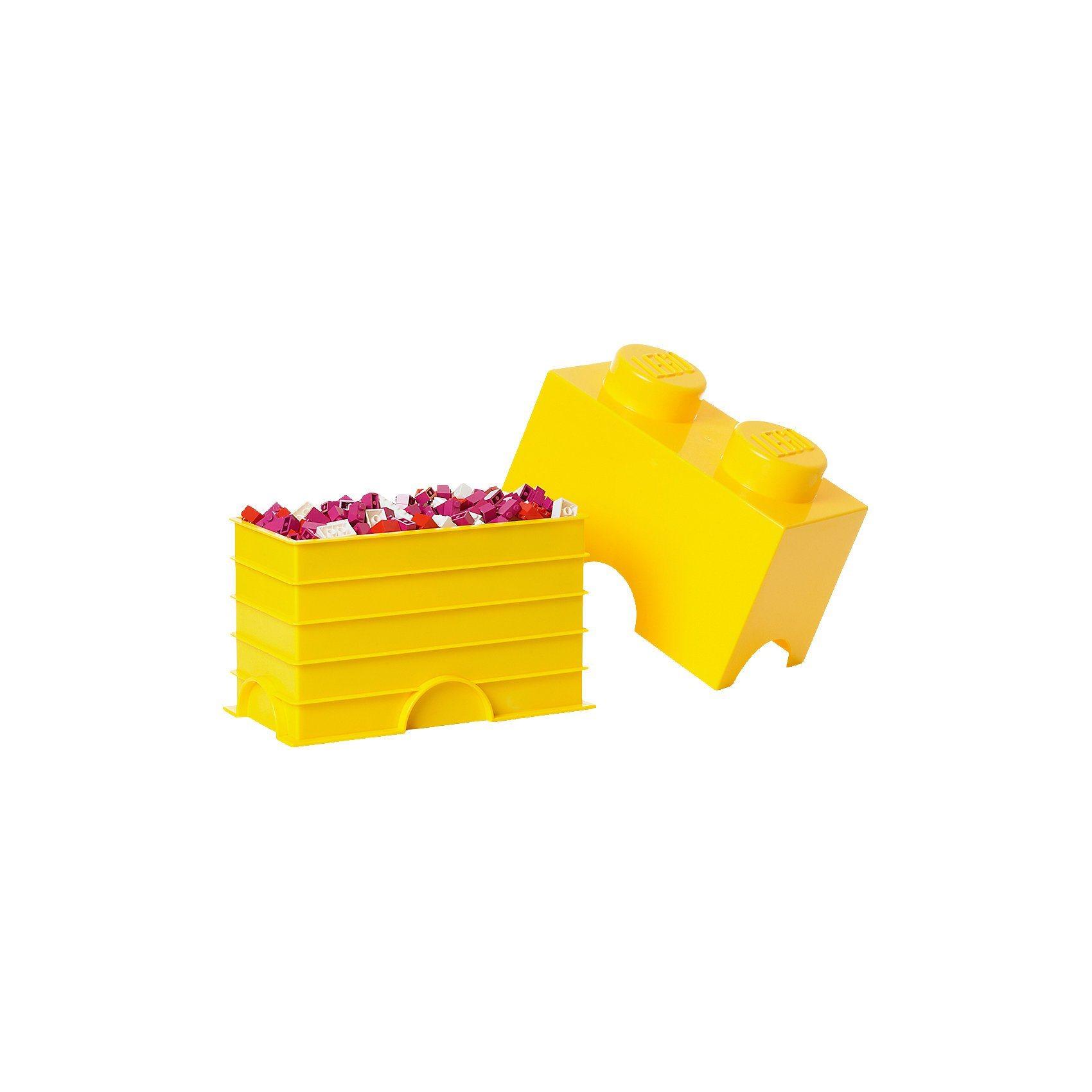 LEGO Aufbewahrungsdose Storage Brick 2er gelb