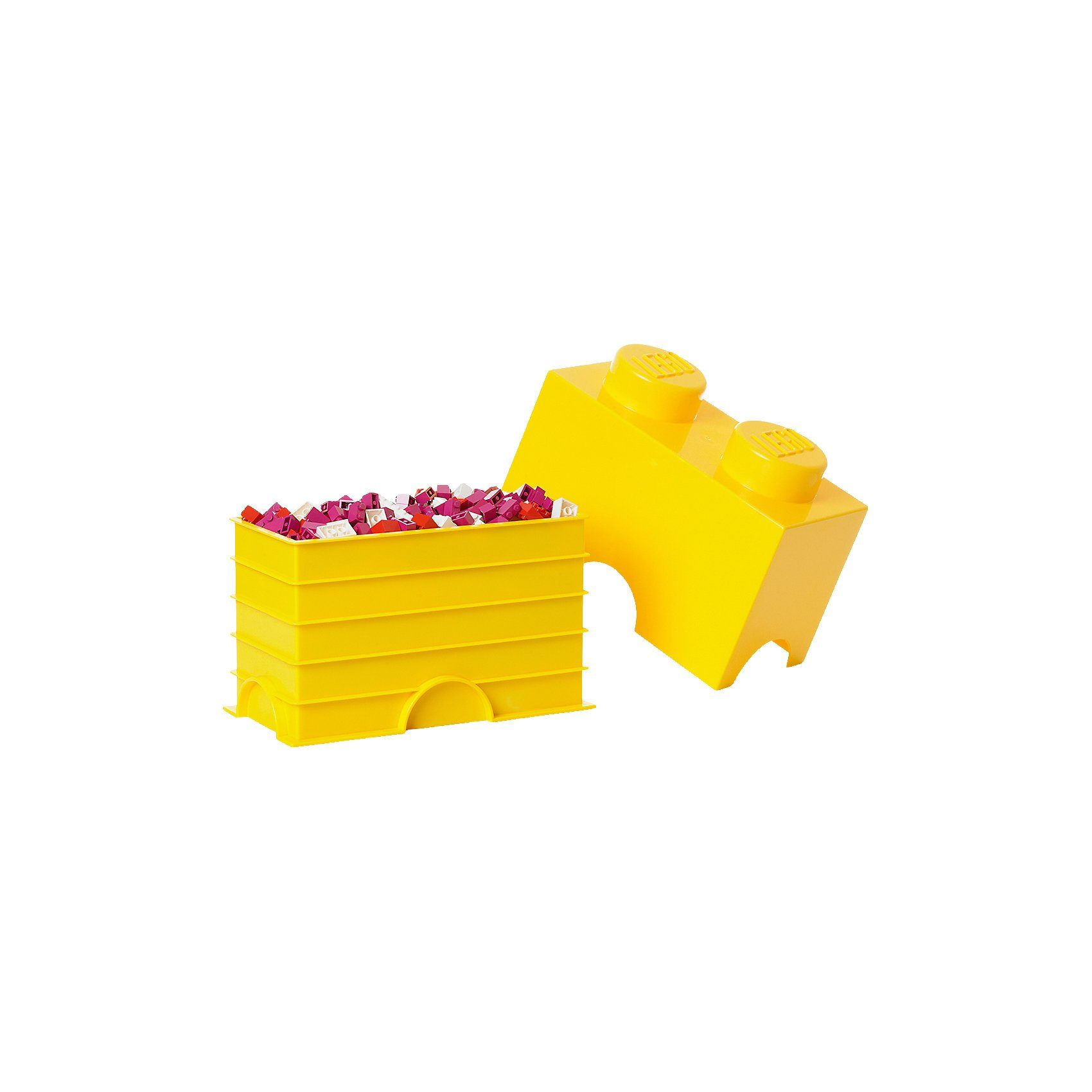 LEGO® Aufbewahrungsdose Storage Brick 2er gelb