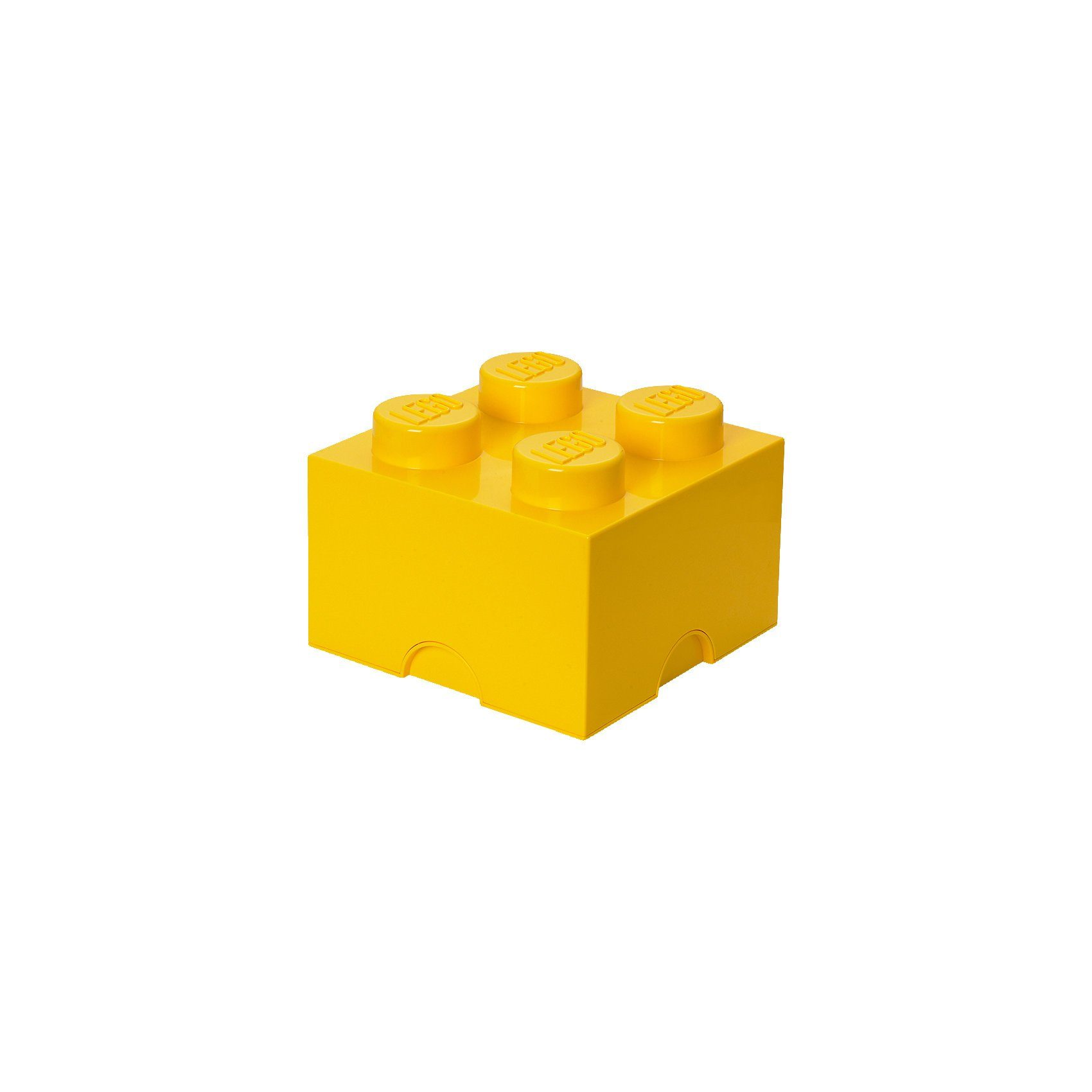 LEGO Storage Brick 4er Stein gelb