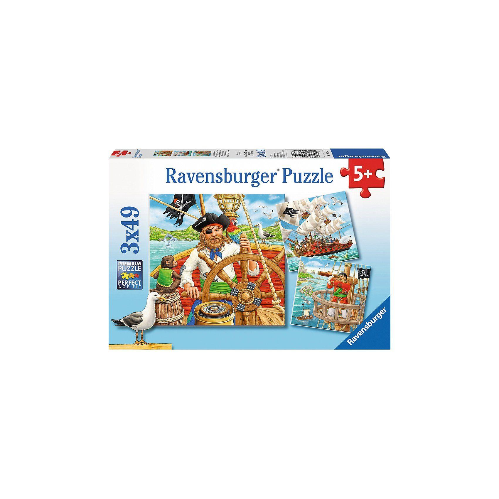 Ravensburger Puzzleset 3 x 49 Teile Piratenabenteuer