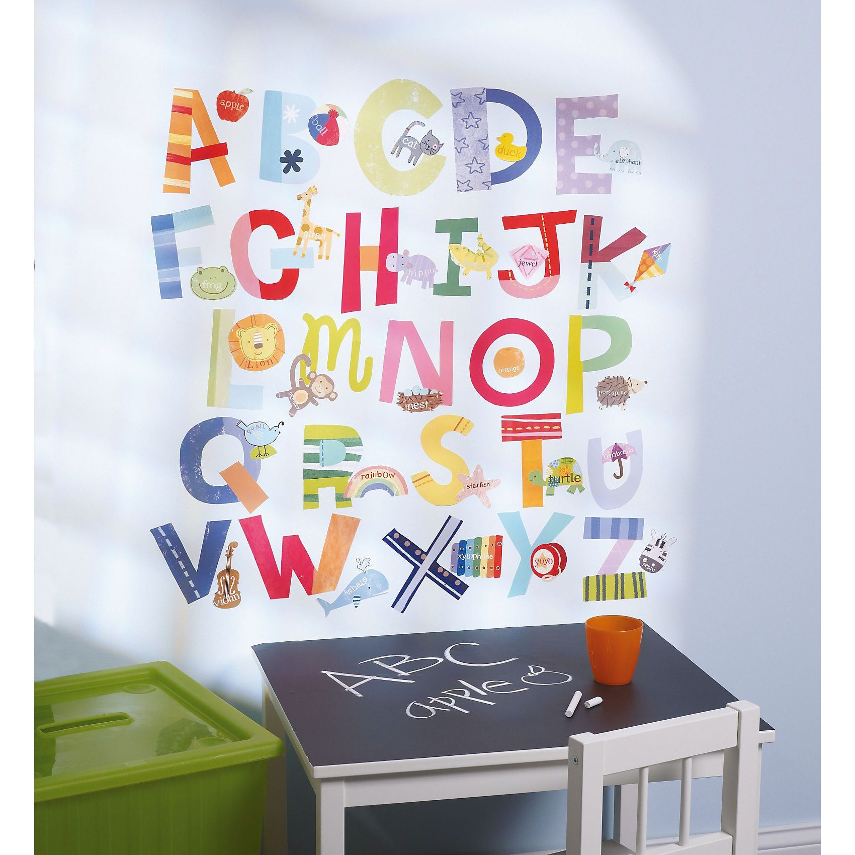 WALLIES Wandsticker Lustiges Alphabet, 52-tlg.