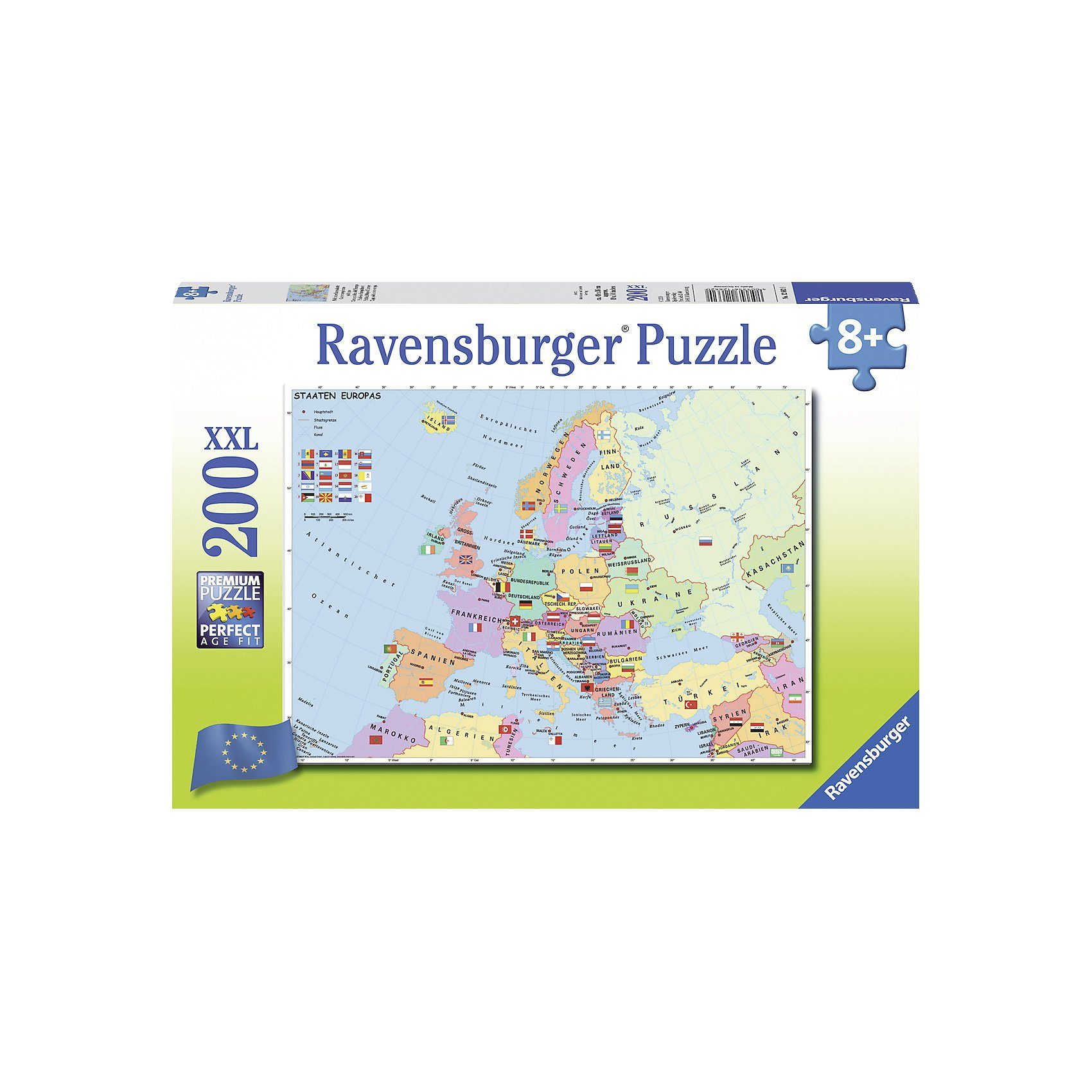 Ravensburger Politsche Europakarte - 200 Teile XXL Puzzle