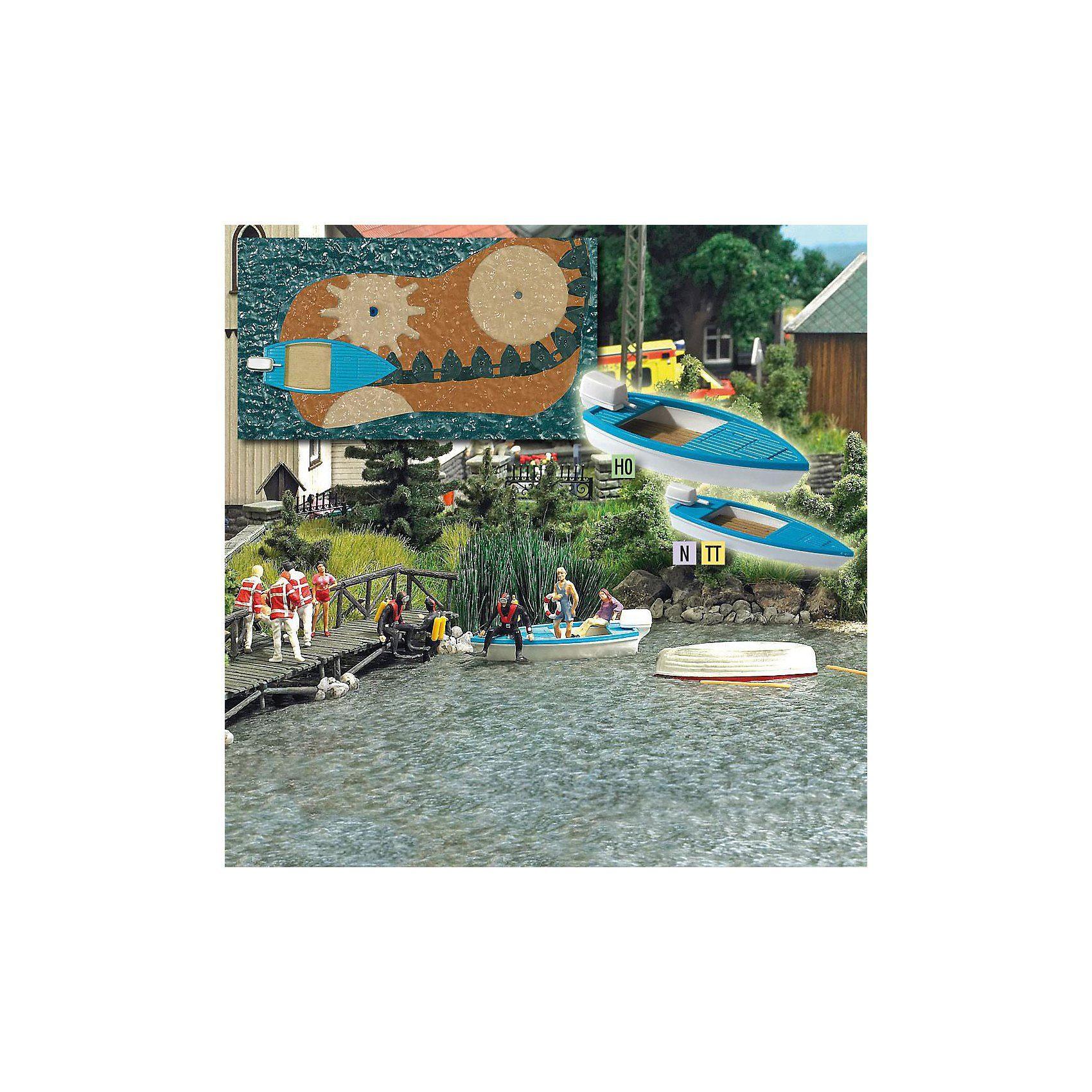 Busch Modelleisenbahn See mit fahrendem Boot - Spur H0