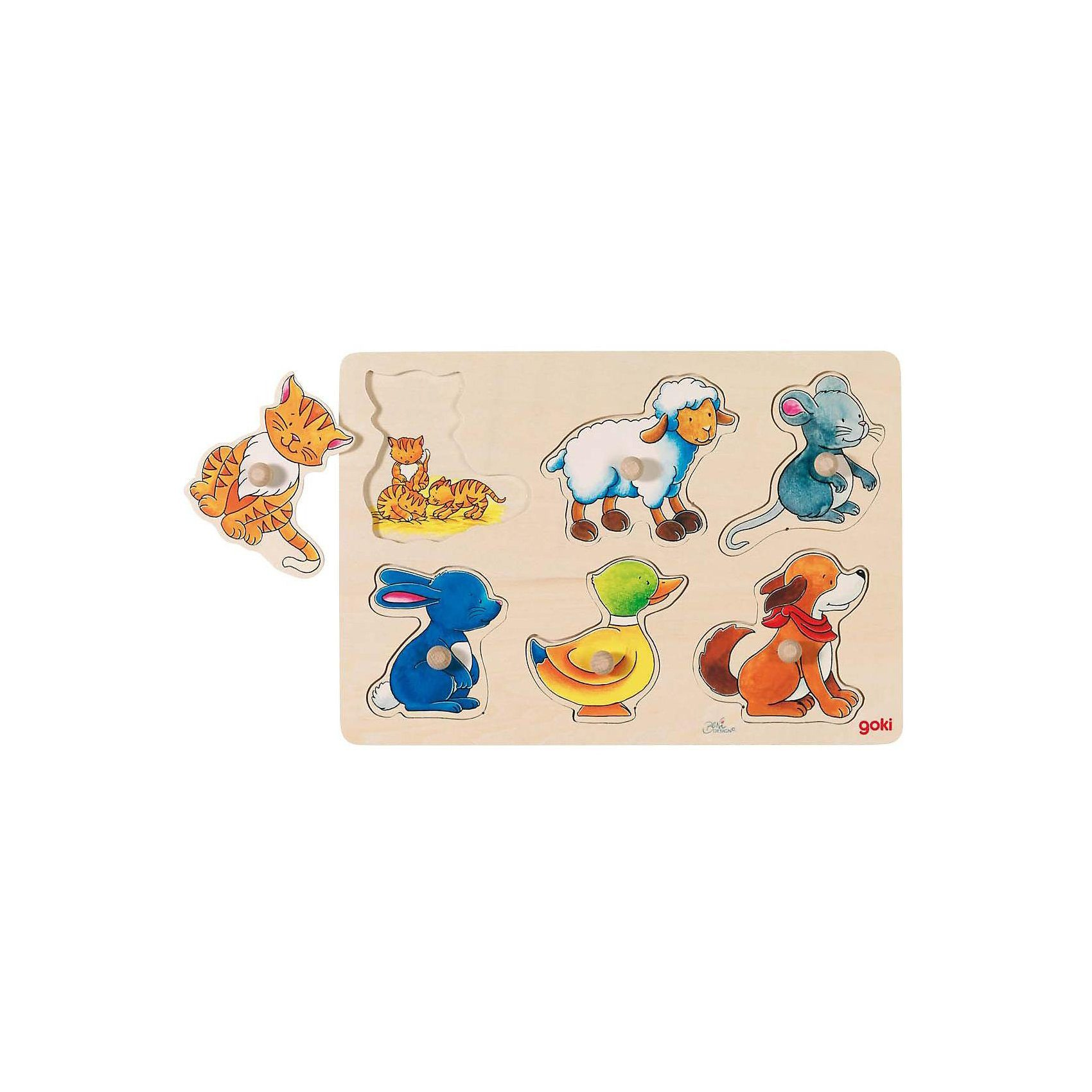 Hintergrundbildpuzzle Mutter und Kind Holzspielzeug