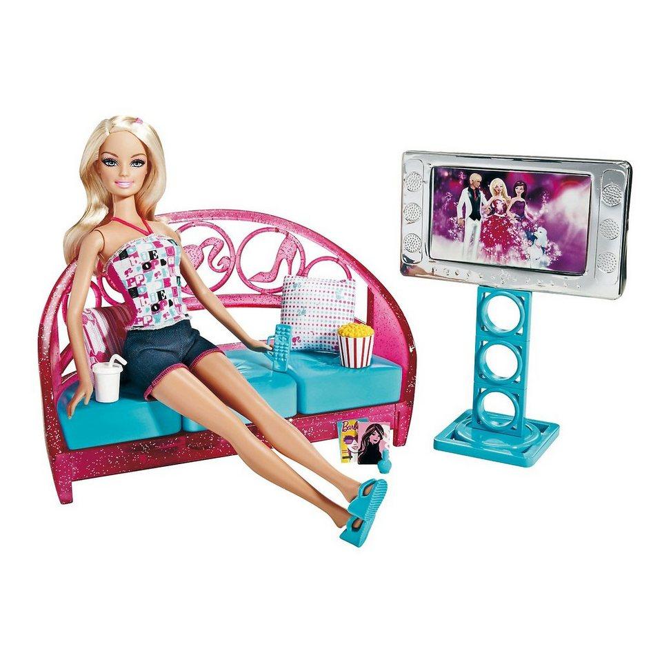 Mattel Barbie Wohnzimmer mit Puppe