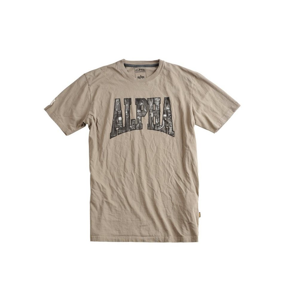 ALPHA INDUSTRIES T-Shirt »Photo Print T« in light olive