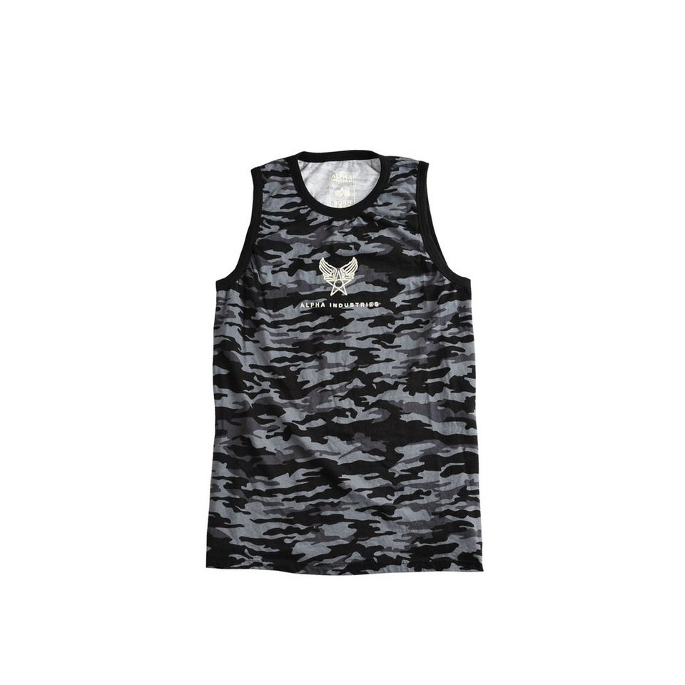 ALPHA INDUSTRIES T-Shirt »C-1 Camo Tank« in black camo