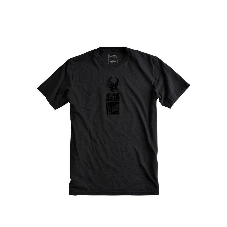 ALPHA INDUSTRIES T-Shirt »Skull Born T« in black