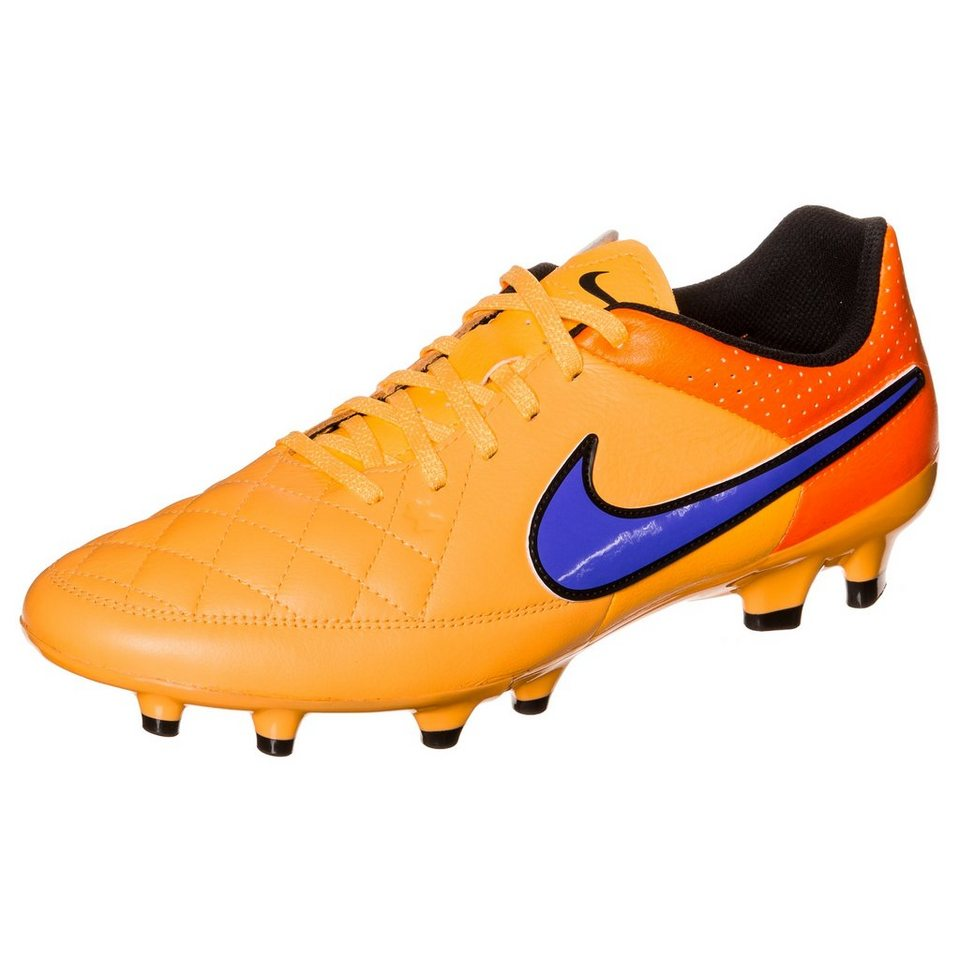 NIKE Tiempo Genio Leather FG Fußballschuh Herren in orange / lila