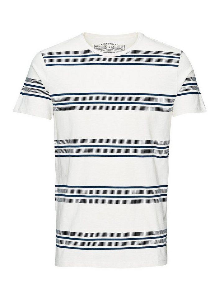 Jack & Jones Gestreift T-Shirt in Cloud Dancer 3