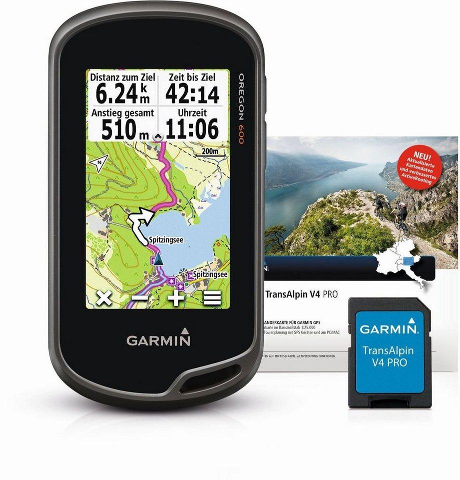 Garmin Wandergerät »Oregon 600 + TransAlpin V4 PRO microSD« in Anthrazit