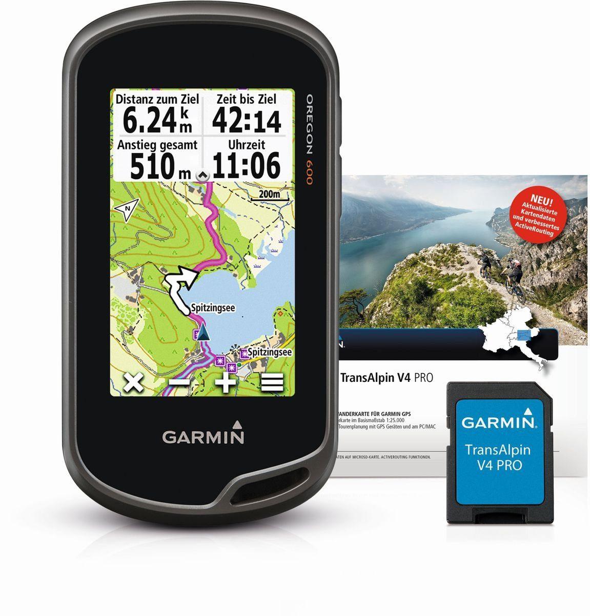 Garmin Wandergerät »Oregon 600 + TransAlpin V4 PRO microSD«