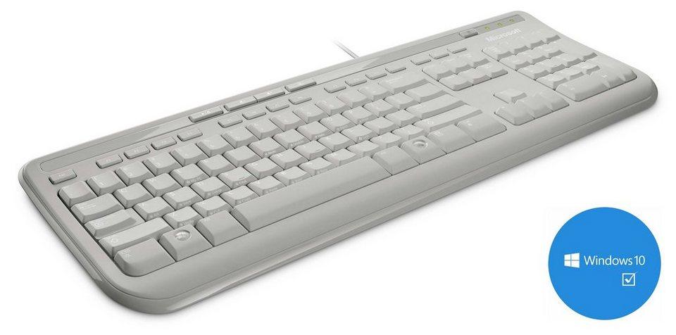 Microsoft ANB-00028 Tastatur »Wired Keyboard 600 « in weiß