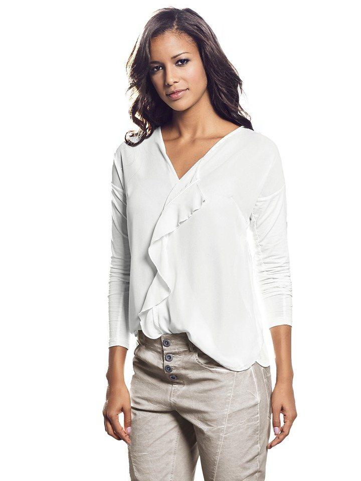 Shirtbluse in weiß