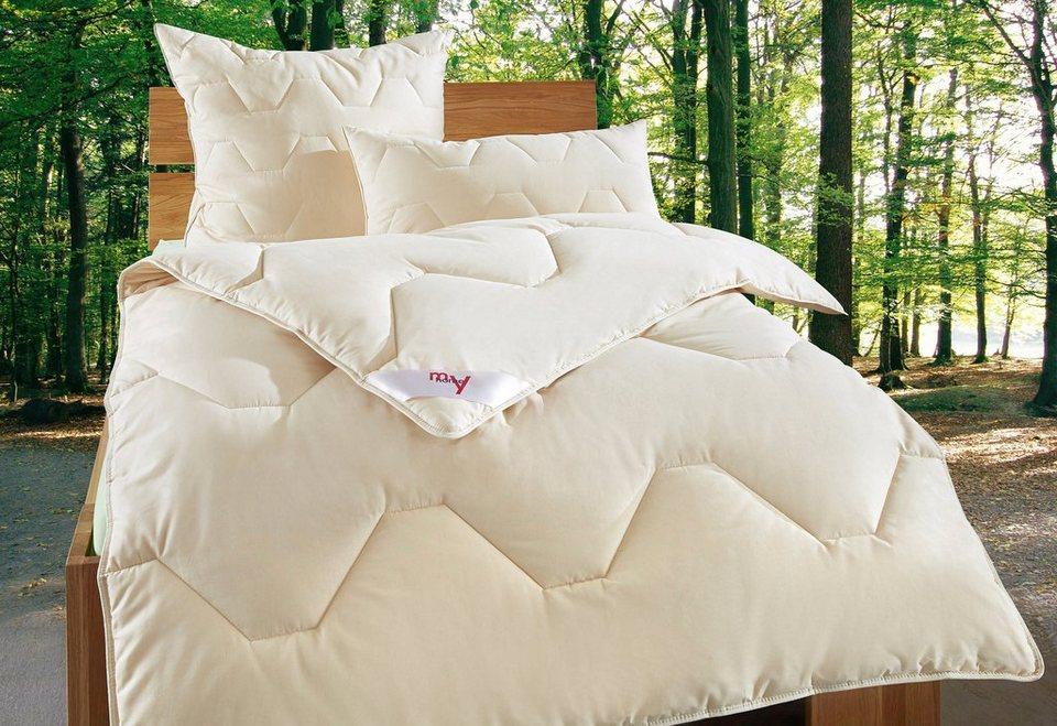 Set: Naturfaserbettdecken + Kopfkissen, my home »Baumwolle 60 °C«, Warm