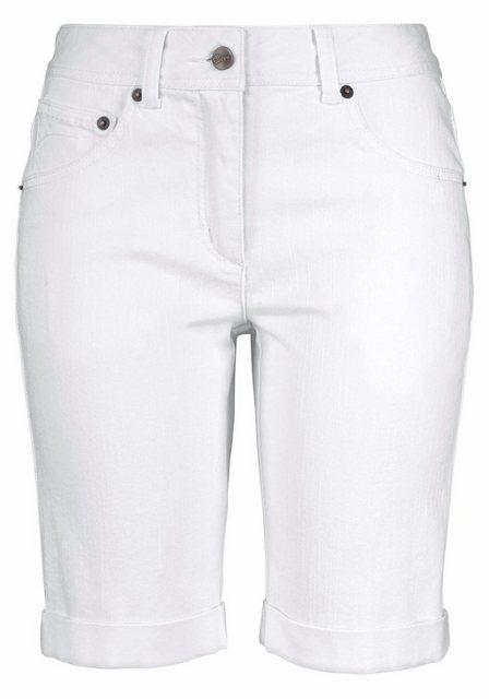 Hosen - Aniston CASUAL Jeansbermudas mit aufgesetzten Pattentaschen › weiß  - Onlineshop OTTO