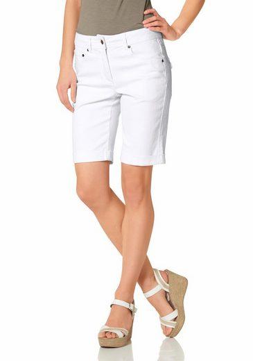 Aniston CASUAL Jeansbermudas mit aufgesetzten Pattentaschen