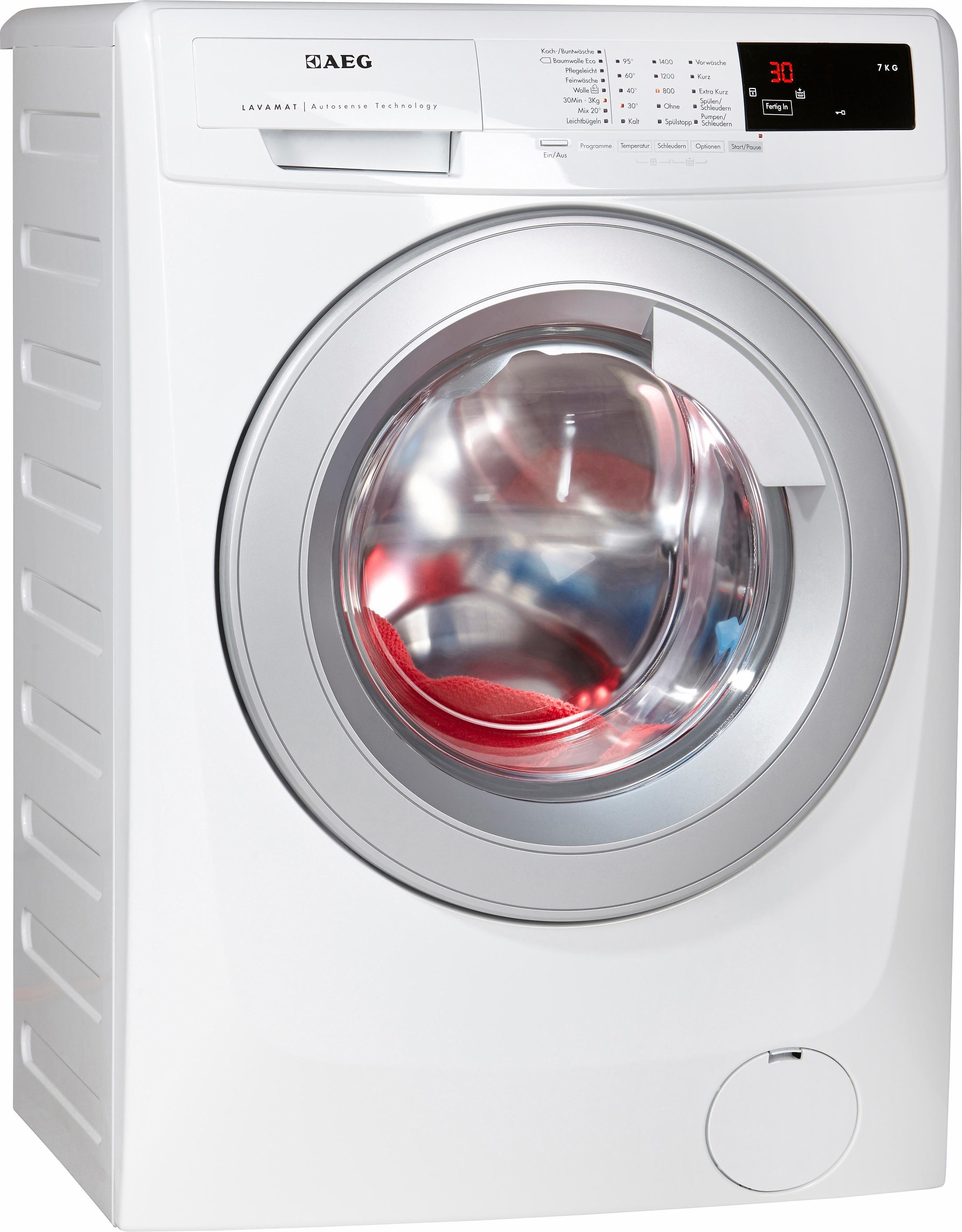 AEG Waschmaschine Lavamat L68470VFL, A+++, 7 kg, 1400 U/Min
